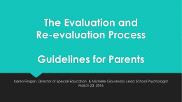 Evaluation Process for Parents