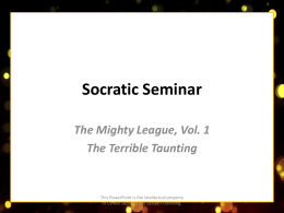 CLICK HERE for Socratic Seminar!