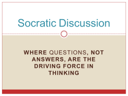 Socratic Powerpoint For Students