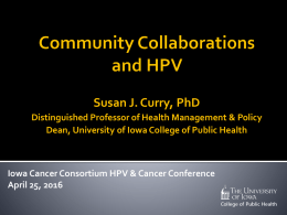 Community Collaborations and HPV
