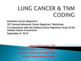 lung cancer - Kentucky Cancer Registry