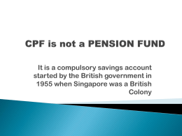CPF is not a PENSION FUND