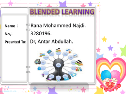 Blended learning - Dr.Antar Abdellah Home Page