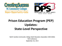 Prison Education Program Updates