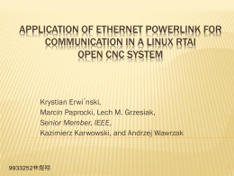 Application of Ethernet Powerlink for Communication in a Linux
