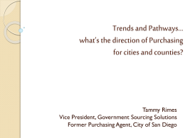 Trends and Pathways*what*s the direction of Purchasing for cities