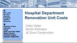Hospital Department Renovation Unit Costs