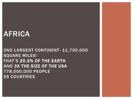 PPT: Physical Geography of Africa - Home