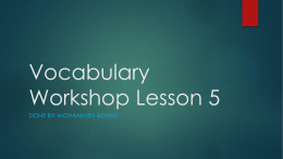 lesson 5 vocabulary