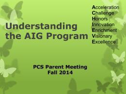 Understanding the AIG Program