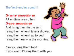 The Verb Ending Song
