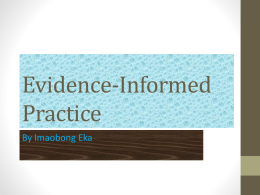 Evidence-Informed Practice – suitable sources to