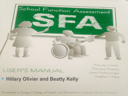 School Function Assessment (SFA)