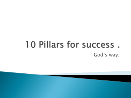 10 Pillars for success