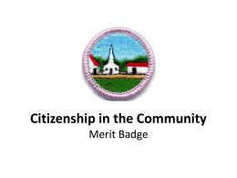 Citizenship in the Community Merit Badge