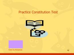 Pre Constitution Test