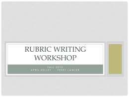rubrics - Lauralton Hall Online Learning!