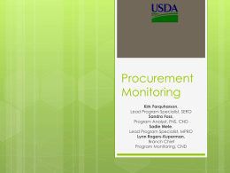 Procurement Monitoring Presentation