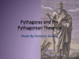 Pythagoras - fsemsgifted