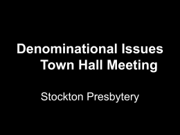 Denominational Issues Town Hall Meeting