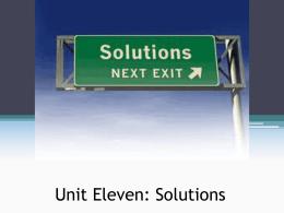 Unit Eleven Powerpoint