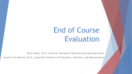 End of Course Evaluation