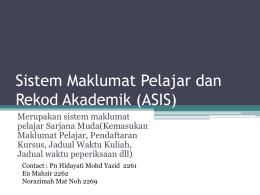 Sistem Maklumat Pelajar dan Rekod Akademik (ASIS)