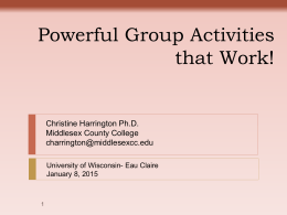Mix it up: Powerful Group Activities that Work!