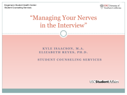 Managing Your Nerves in an Interview