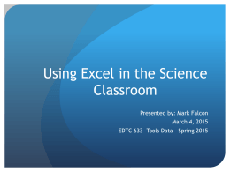 Excel Project Presentation