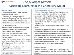 The pHunger Games: Assessing Learning in the Chemistry Major at