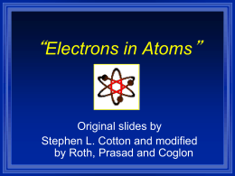 Electrons in Atoms modified 1415