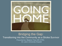 Bridging the Gap - St. Luke`s University Health Network