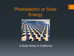 Photoelectric Energy
