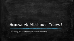 Homework Without Tears! - grantpta.org