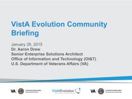 VistA Evolution Community Briefing: eHMP