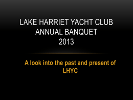 HERE - Lake Harriet Yacht Club