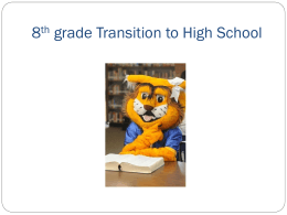 campus transition presentations - Klein High School