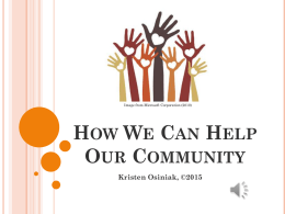 How We Can Help Our Community PowerPoint