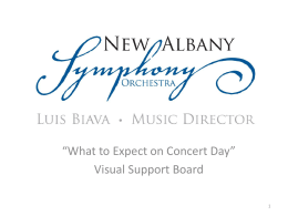 PowerPoint Presentation - New Albany Symphony Orchestra