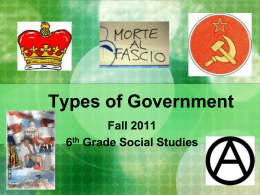 Types of Government - Pendleton County Schools
