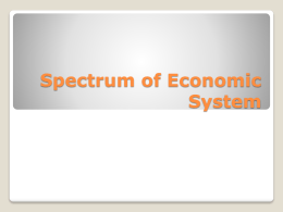 Spectrum of Economic System