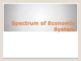 Spectrum of Economic System