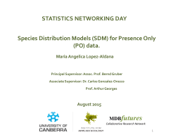 Species Distribution Models - Institute for Governance and Policy