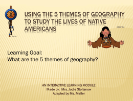 5 Themes of Geography - Ms. Meller