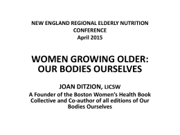 Women Growing Older: Our Bodies Ourselves