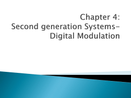 Chapter 4: Second generation Systems