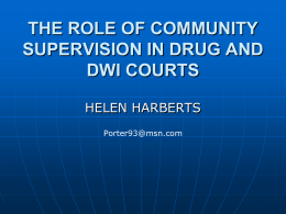 the role of community supervision in drug courts