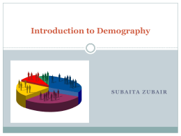 Introduction to Demography