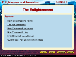 New Views on Society Section 2 Enlightenment and Revolution
